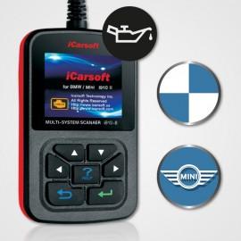 Outil diagnostic BMW/Mini multi-système + reset huile - iCarsoft i910 II