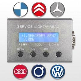 Reset de lampe de service vidange/airbag 10 en 1
