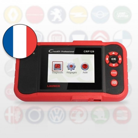 Launch CRP129 / Creader VIII - Diagnostic 4 systèmes (moteur, ABS, airbags, transmission)