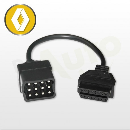 adaptateur renault c ble obd1 vers obd2. Black Bedroom Furniture Sets. Home Design Ideas