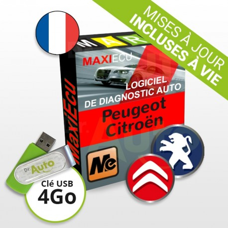 Pack Logiciel de Diagnostic Peugeot / Citroën MaxiECU + Interface MPM-COM