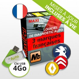 Pack Logiciel de Diagnostic Peugeot / Citroën / Renault MaxiECU + Interface MPM-COM