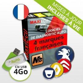Pack Logiciel de Diagnostic Peugeot / Citroën / Renault / Dacia MaxiECU + Interface MPM-COM
