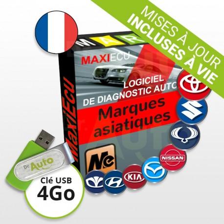 Pack Logiciel de Diagnostic marques asiatiques MaxiECU + Interface MPM-COM