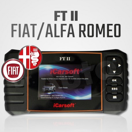 Scanner iCarsoft FT-II multi-système + vidange pour Fiat et Alfa Romeo