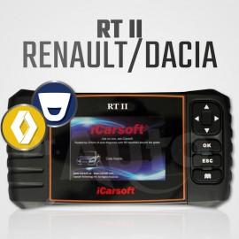 Scanner Renault / Dacia iCarsoft RT-II Multi-système + Reset vidange