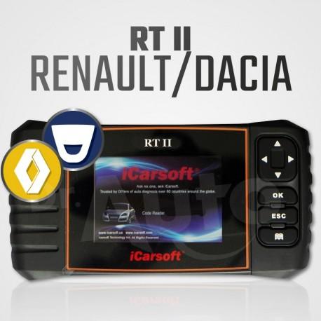 Scanner iCarsoft RT-II multi-système + vidange pour Renault et Dacia