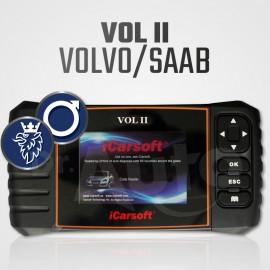 Scanner Volvo / Saab iCarsoft VOL-II Multi-système + Reset vidange