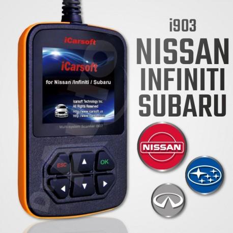 Scanner iCarsoft i903 multi-système pour Nissan, Infiniti et Subaru