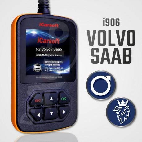 Scanner iCarsoft i906 multi-système pour Volvo et Saab