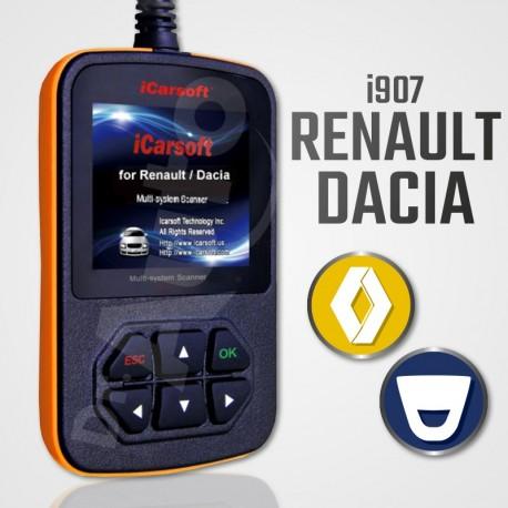Scanner iCarsoft i907 multi-système pour Renault et Dacia