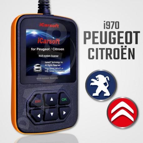 Scanner iCarsoft i970 multi-système pour Peugeot et Citroën