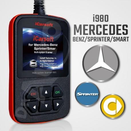 Scanner iCarsoft i980 multi-système pour Mercedes Benz, Sprinter et Smart