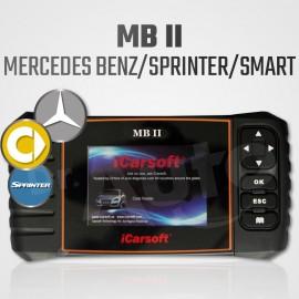 iCarsoft MB-II - Scanner multi-système + vidange pour Mercedes Benz, Sprinter et Smart