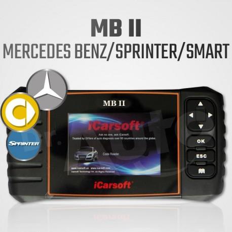 Scanner iCarsoft MB-II multi-système + vidange pour Mercedes Benz