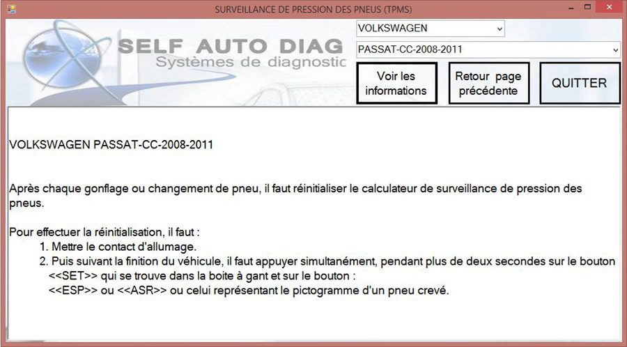 TPMS Volkswagen Ultimate Diag One